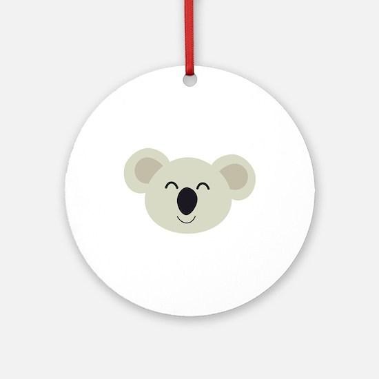 Happy Koala head Round Ornament