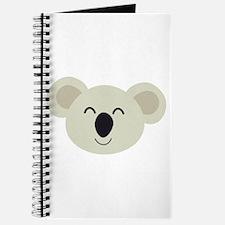 Happy Koala head Journal