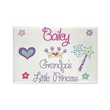 Bailey - Grandpa's Little Pri Rectangle Magnet (10