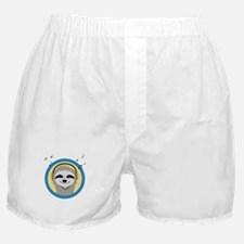 Cool Sloth is hearing music Boxer Shorts