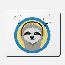 Cool Sloth is hearing music Mousepad