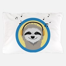 Cool Sloth is hearing music Pillow Case