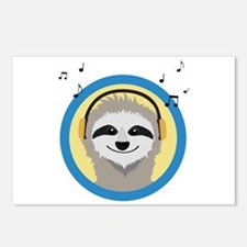 Cool Sloth is hearing mus Postcards (Package of 8)