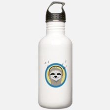 Cool Sloth is hearing Water Bottle