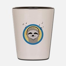 Cool Sloth is hearing music Shot Glass