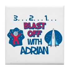 Blast Off with Adrian Tile Coaster