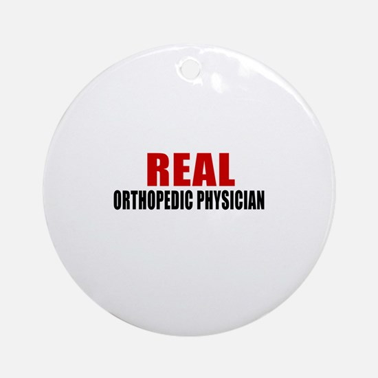 Real Orthopedic Physician Round Ornament