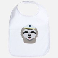captain sloth with hat Baby Bib