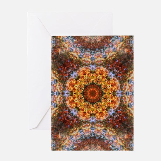 Grand Galactic Alignment Mandala Greeting Cards