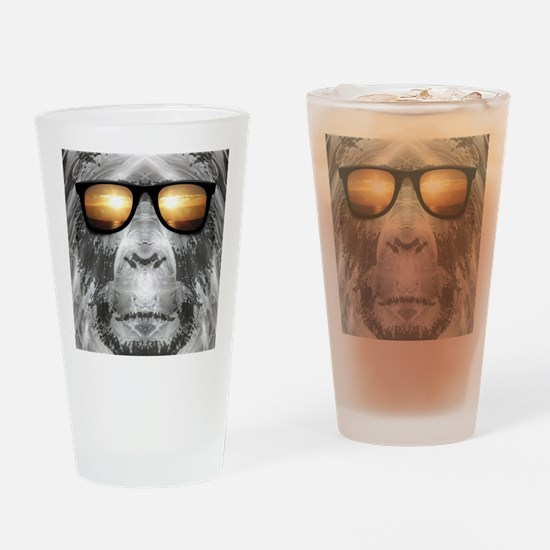 Bigfoot In Shades Drinking Glass