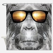 Bigfoot In Shades Shower Curtain