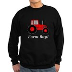 Farm Boy Red Tractor Sweatshirt (dark)