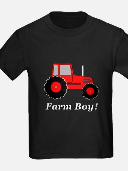 Farm Boy Red Tractor T