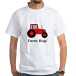 Farm Boy Red Tractor White T-Shirt