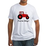 Farm Boy Red Tractor Fitted T-Shirt