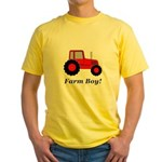 Farm Boy Red Tractor Yellow T-Shirt