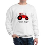 Farm Boy Red Tractor Sweatshirt