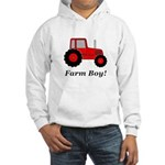 Farm Boy Red Tractor Hooded Sweatshirt