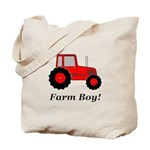 Farm Boy Red Tractor Tote Bag