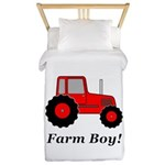 Farm Boy Red Tractor Twin Duvet