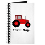 Farm Boy Red Tractor Journal