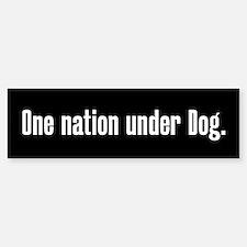 One nation under Dog Sticker (Bumper)