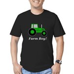 Farm Boy Green Tractor Men's Fitted T-Shirt (dark)