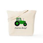 Farm Boy Green Tractor Tote Bag