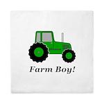 Farm Boy Green Tractor Queen Duvet