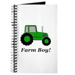 Farm Boy Green Tractor Journal