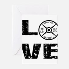 Love Lifting Weights Greeting Cards