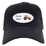 Farm Boy Orange Tractor Black Cap