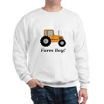 Farm Boy Orange Tractor Sweatshirt