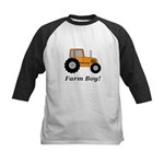 Farm Boy Orange Tractor Kids Baseball Jersey