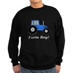 Farm Boy Blue Tractor Sweatshirt (dark)