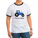 Farm Boy Blue Tractor Ringer T