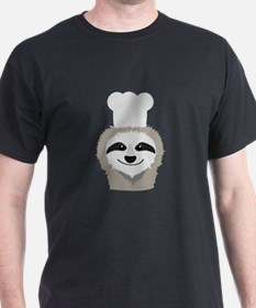 sloth chef with cook hat T-Shirt