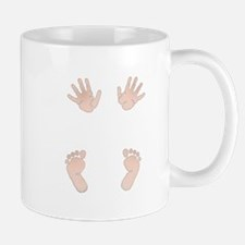 Baby Hands and Feet Maternity Design Mugs
