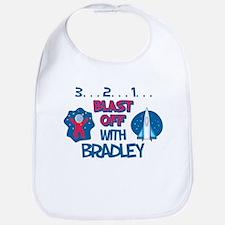 Blast Off with Bradley Bib