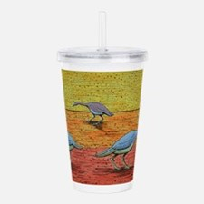 River Geese Acrylic Double-wall Tumbler
