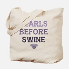 Unique Pearls before swine goat Tote Bag