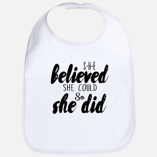 She believed Baby Bib