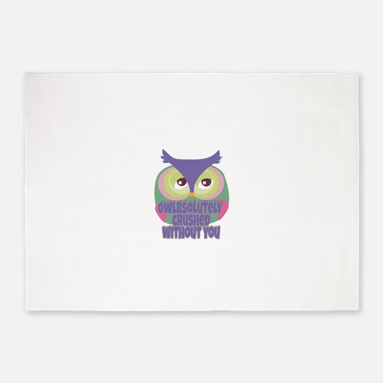 Missing you.. Owl 5'x7'Area Rug