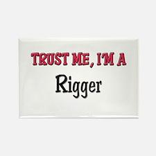Trust Me I'm a Rigger Rectangle Magnet