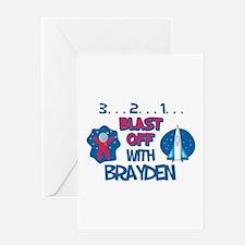 Blast Off with Brayden Greeting Card