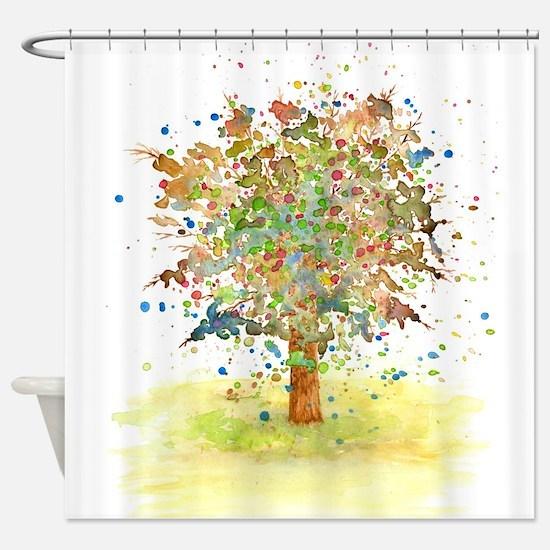 Landscape 466 Tree Shower Curtain