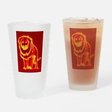 Leo Fire Drinking Glass