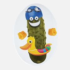 Swim Pickle Oval Ornament