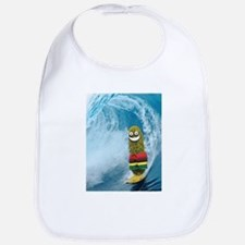 Surfing Pickle Baby Bib