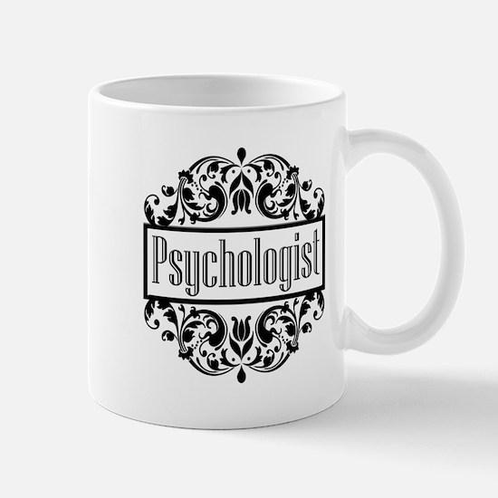 Psychologist damask Mugs